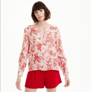 CLUB MONACO Taember Blouse French Toile Red Small